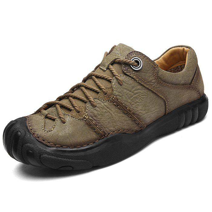Shops Leisure Outdoor Comfortable Leather Hiking Casual Shoes for Men