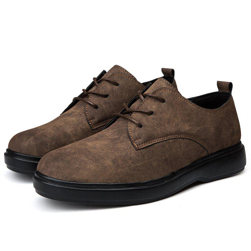 New Suede Thick Sole Leather Shoes for Man