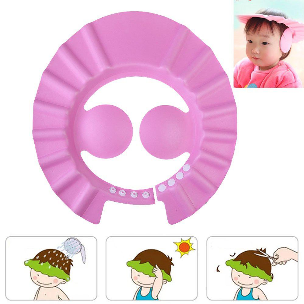 Outfit Adjustable Baby Shower Cap Visor Protective Shield Hat
