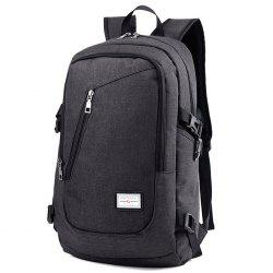 HUWAIJIANFENG 0223 USB Port Design Polyester Backpack -