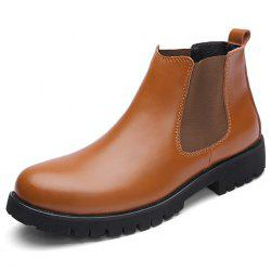 Stylish Comfortable Leather High-top Casual Shoes for Men -
