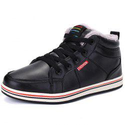 Fashionable Men PU Warm Casual Shoes Anti-slip Wear-resisting Snow Ankle Boots -
