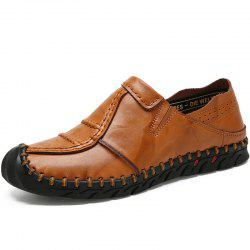 Casual Leather Solid Color Low-top Loafer Shoes for Man -