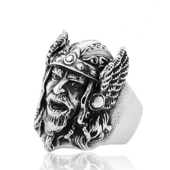 Fashion Stylish Metal Headshot Ring for Men