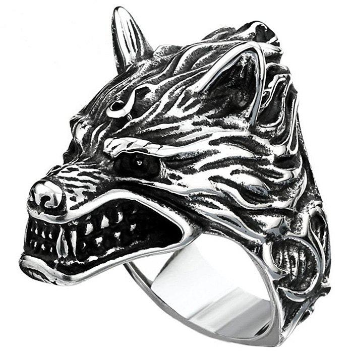 Affordable Stylish 3D Metal Wolf Pattern Ring for Men
