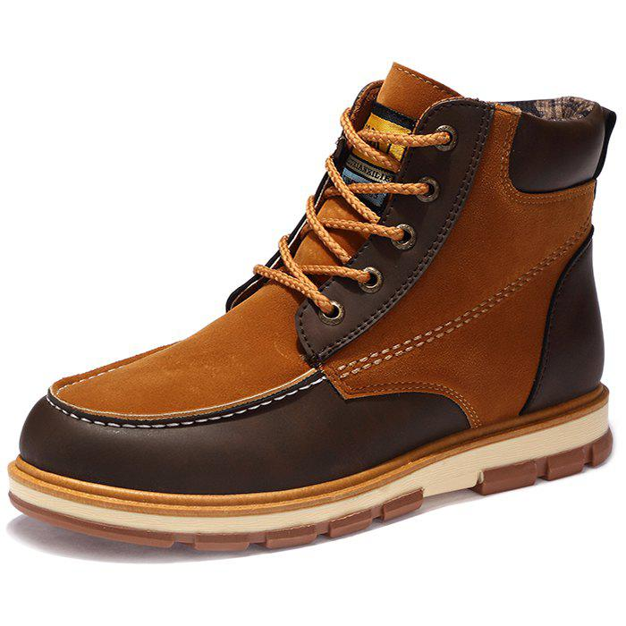 Hot Fashionable Thickening Sole PU Leather Boots for Men
