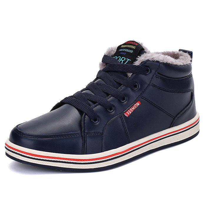 Best Fashionable Men PU Warm Casual Shoes Anti-slip Wear-resisting Snow Ankle Boots