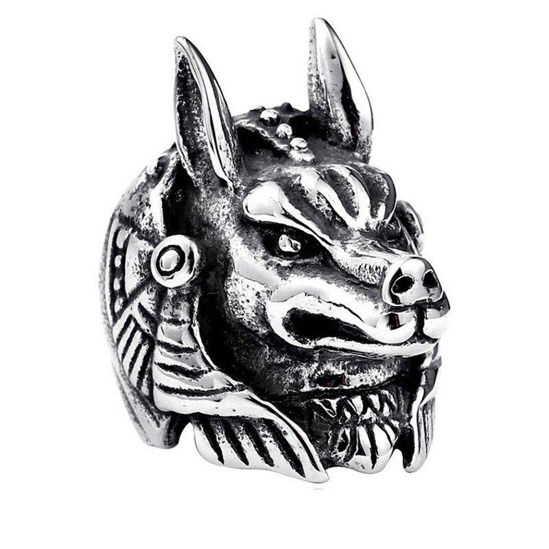Alloy Engraved Wolf Ring