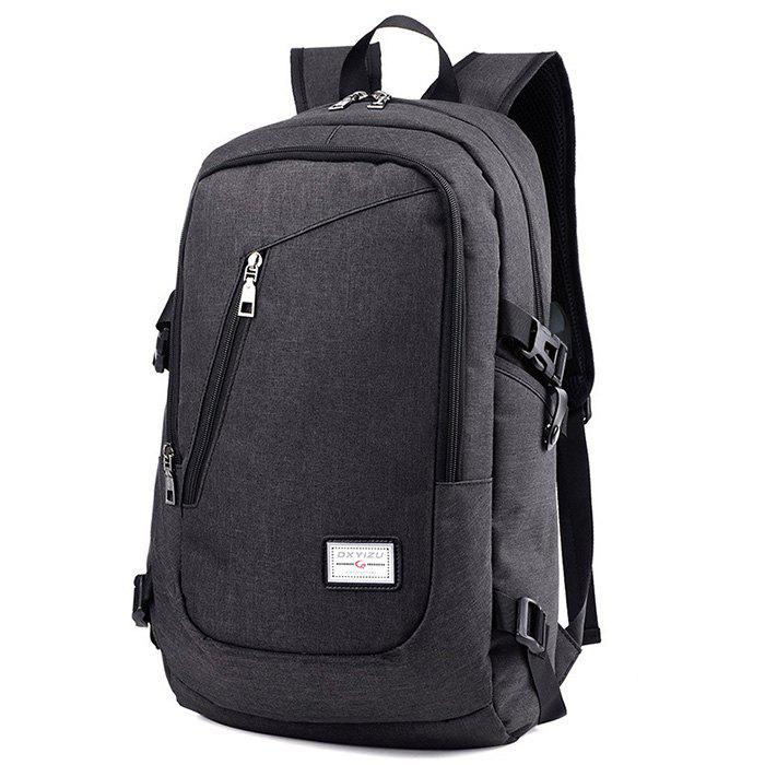 Discount HUWAIJIANFENG 0223 USB Port Design Polyester Backpack