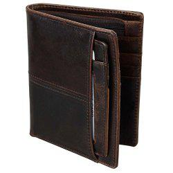 Anti-theft Leather Short Men's Wallet -