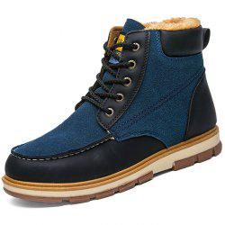 Stylish Lace-up Brushed Men Ankle Boots -