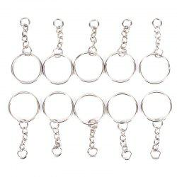 Children Educational Assembly Key Chain Rings for DIY Accessories -