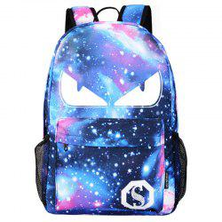 Fashionable Starry Night Nylon Backpack for Students Kids -