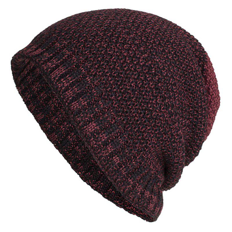 Two Colors Man Warm-keeping Knitted Hat