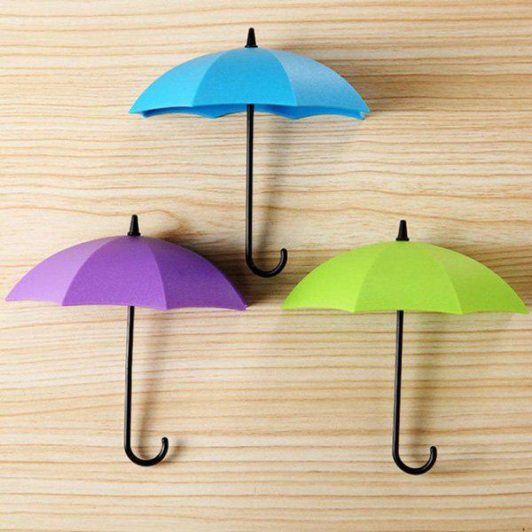 Shops Colorful Umbrella Shaped Adhesive Hooks for Bathroom 3pcs