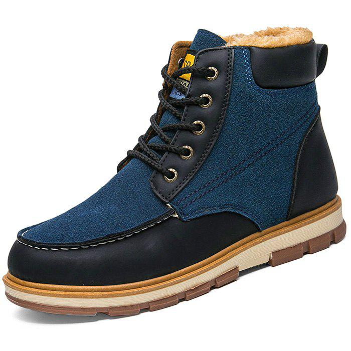 Discount Stylish Lace-up Brushed Men Ankle Boots