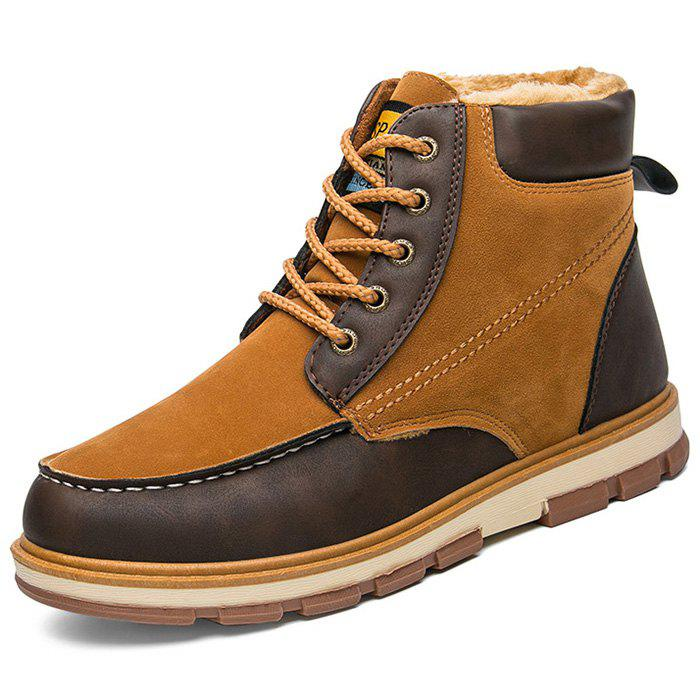 Cheap Stylish Lace-up Brushed Men Ankle Boots