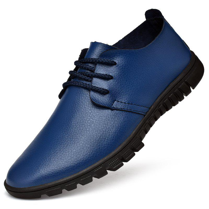 New Men Trendy Business Casual Calf Leather Shoes