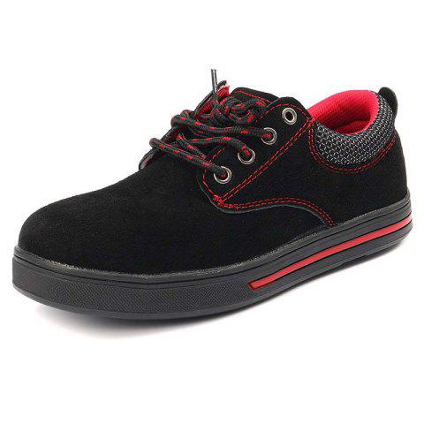 704ab6db0 Saudi Rosegal.com | BLACK Male Wearable Lace Up Casual Sports Shoes ...
