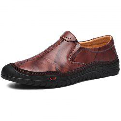 Stylish Comfortable Leisure Slip-on Casual Leather Shoes for Men -