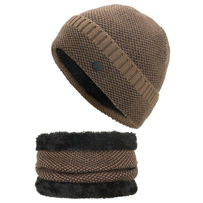 Simple New Style Knitted Hat Neckerchief Suit