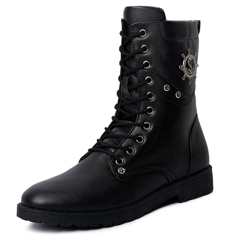 Affordable Fashion Wear-resistant Lace-up High Men Leather Boots