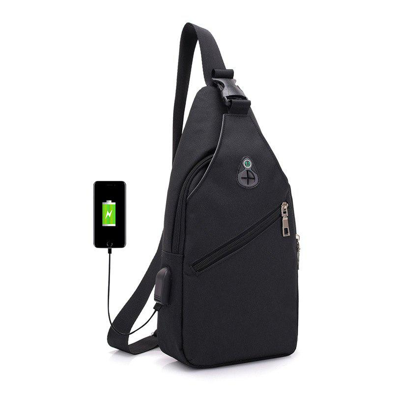Trendy HUWAIJIANFENG 0112 USB Port Design Chest Bag