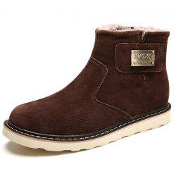 Fashion Outdoor Wear-resistant High Brushed Men Snow Boots -