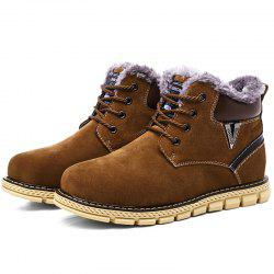 Fashion Anti-slip Outdoor Brushed Men Snow Boots -