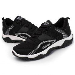 Simple Style Mesh Sneakers for Men -