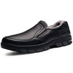 Stylish Business Warm Slip-on Leather Casual Shoes for Men -