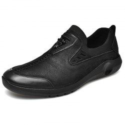 Stylish Anti-slip Shock-absorbing Leather Casual Shoes for Men -