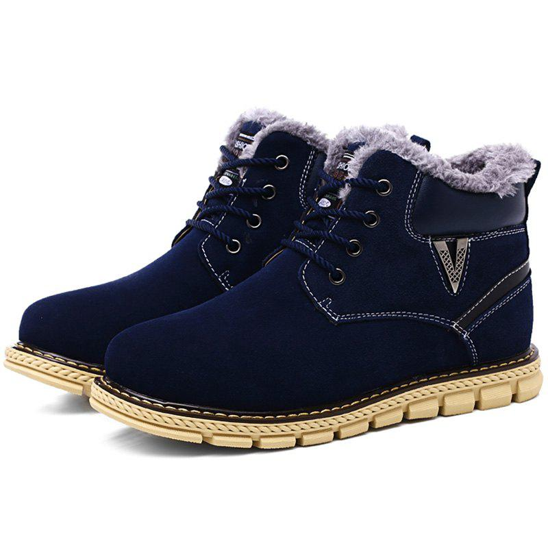 Trendy Fashion Anti-slip Outdoor Brushed Men Snow Boots