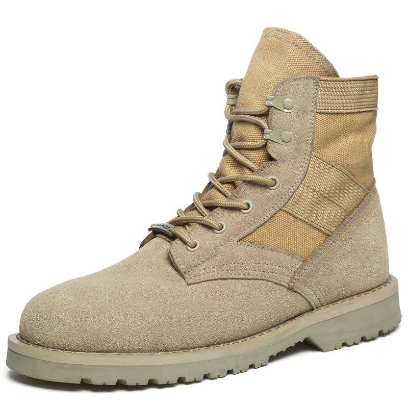 Cheap Fashion Lace-up High-top Men Boots