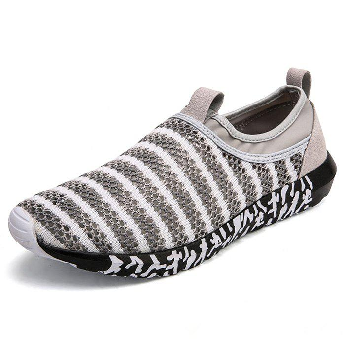 Outfit Stripe Pattern Air Mesh Sneakers for Men