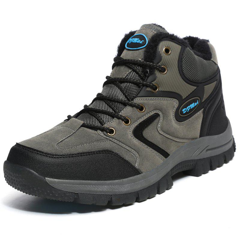 Buy Outdoor Hiking Wear-resistant Brushed Men Snow Boots