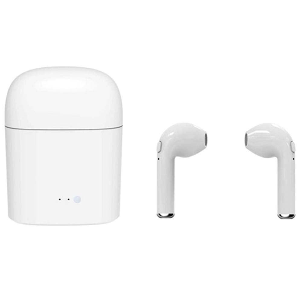 Shops i7s Wireless Earbuds Mini Bluetooth In-ear Earphones Dual Stereo Sweatproof Built-in Mic with Charging Box
