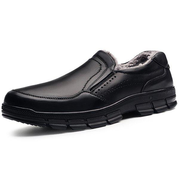 Buy Stylish Business Warm Slip-on Leather Casual Shoes for Men