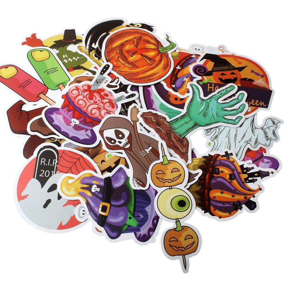 Fancy Non-repetitive Colorful Halloween Decoration Stickers 100pcs