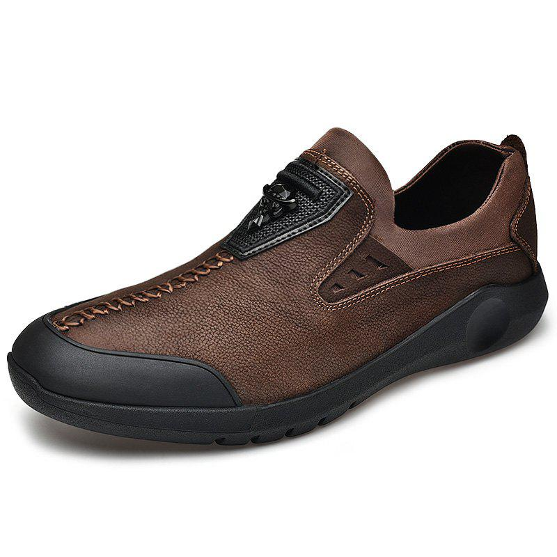 Fancy Stylish Anti-slip Shock-absorbing Leather Casual Shoes for Men