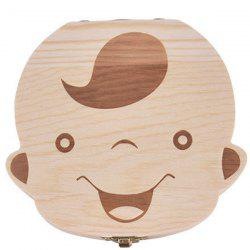 Creative Wooden Teeth Box for Baby -