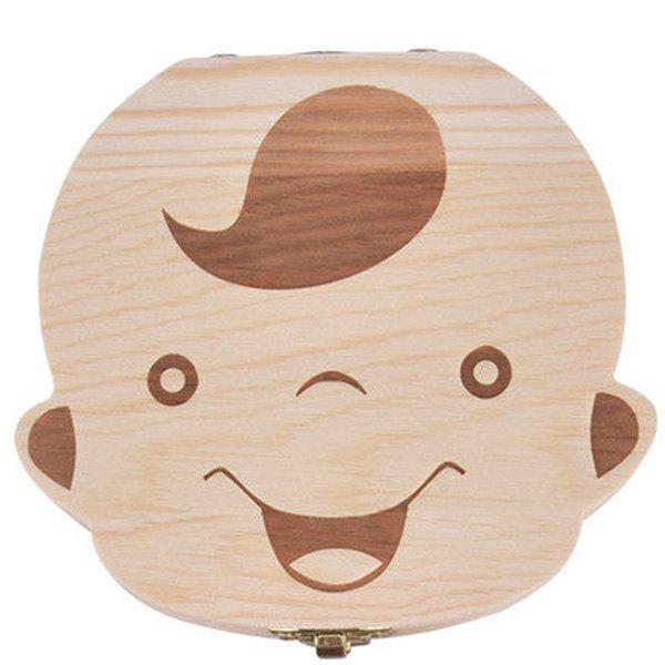 Discount Creative Wooden Teeth Box for Baby