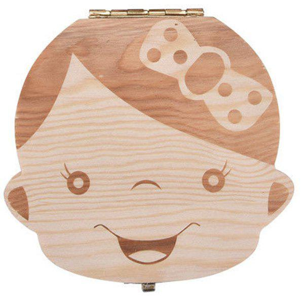 Fancy Creative Wooden Teeth Box for Baby