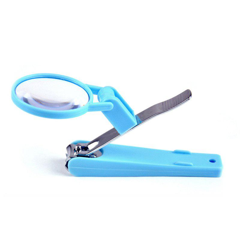 Chic Magnifying Glass Scissor Stainless Steel Nail Clipper