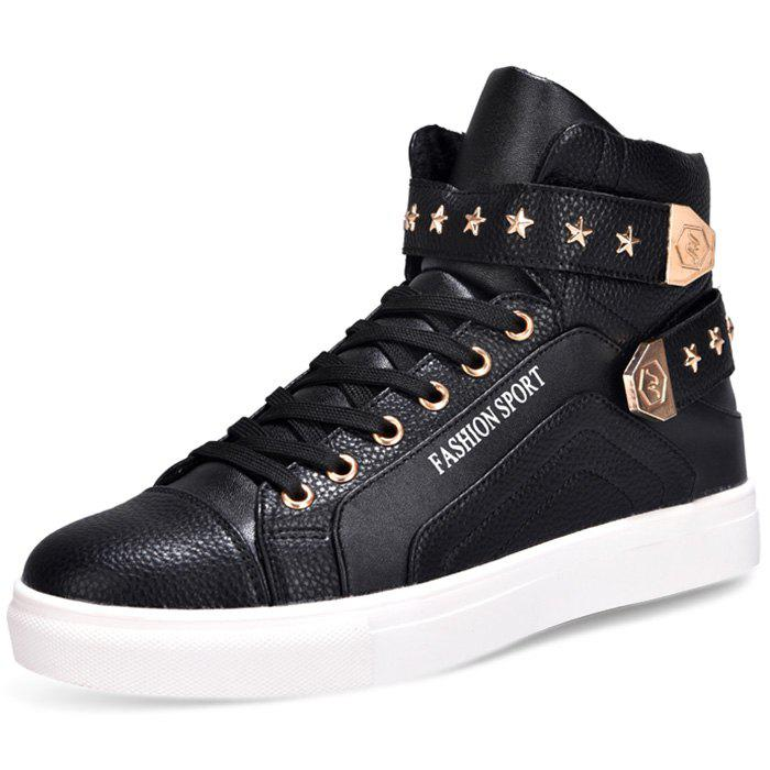 Shop Men Fashion Leisure Warm High Sneakers