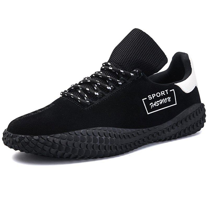 Online Men Lace Up PU Casual Athletic Sports Shoes Sneakers