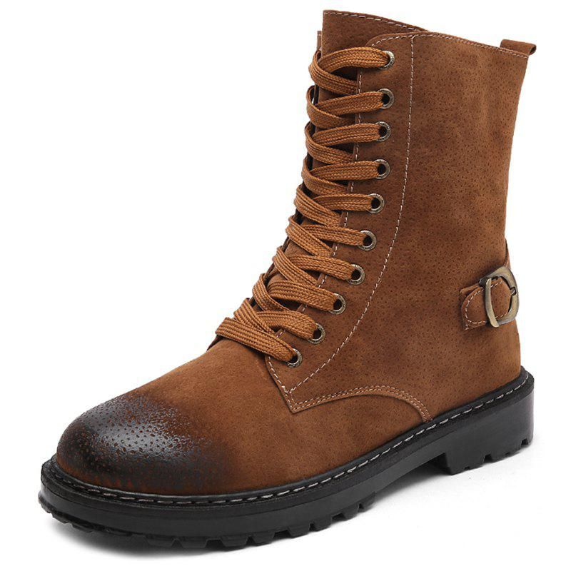 Trendy English Style Vachette Clasp Work Shoes Boots for Men
