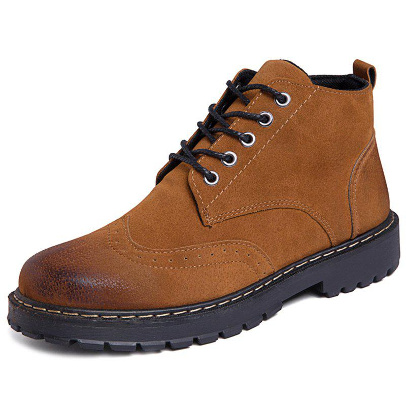 Fancy Suede Casual Shoes Martin Boots for Men