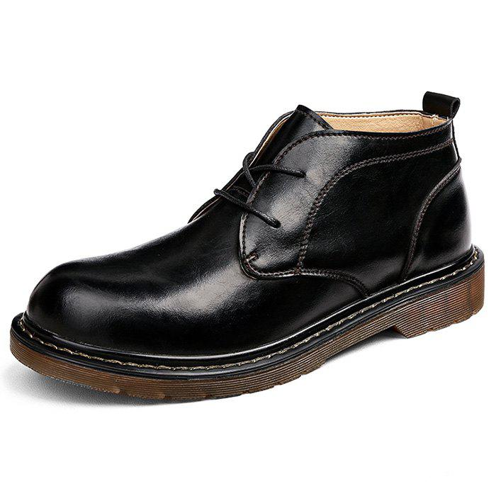 Trendy Genuine Leather Casual Boots for Men
