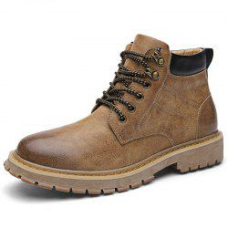 Microfiber and PU Casual Martin Boots for Men -